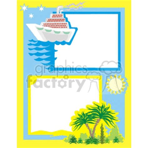 clip art borders travel   related vector