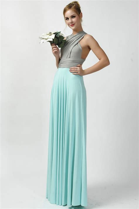 two color dress 2016 new arrival two tone infinity convertible bridesmaid