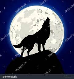 Wolf Howling at the Moon Drawing
