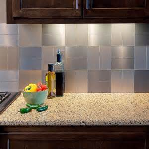 aspect grain 3 in x 6 in metal decorative tile backsplash in brushed stainless 8 pack