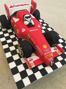 ferrari formula one racing car cake 40th birthday ideas With f1 car cake template