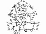 Coloring Farm Pages Animals Crafts Looking Activities Diy Pigs Window Through sketch template