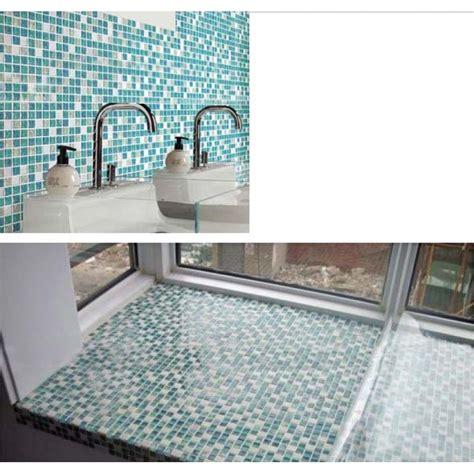 kitchen backsplash tile stickers crackle tile backsplash blue glass