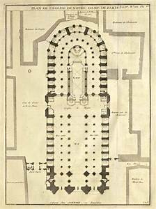 Plan of Notre Dame Cathedral Paris Architecture