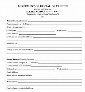 motor vehicle lease agreement template - house lease agreement 7 free pdf doc download