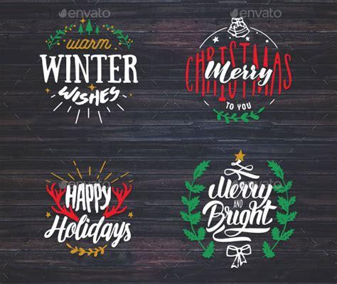 awesome christmas badge logo design templates web
