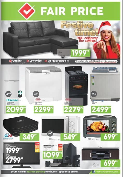Fair Price Furniture Catalogue valid through 31 December 2016