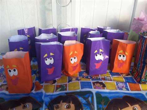 dora  explorer backpack party bags face template