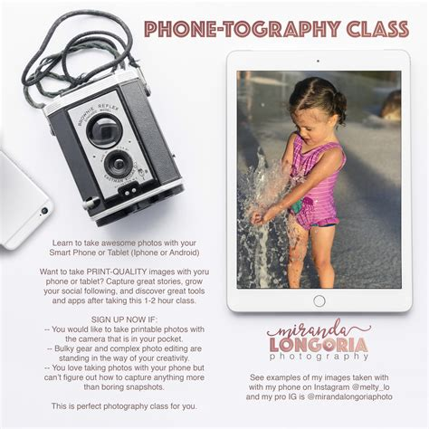 Smart Phone Photography Class (iphone Or Android