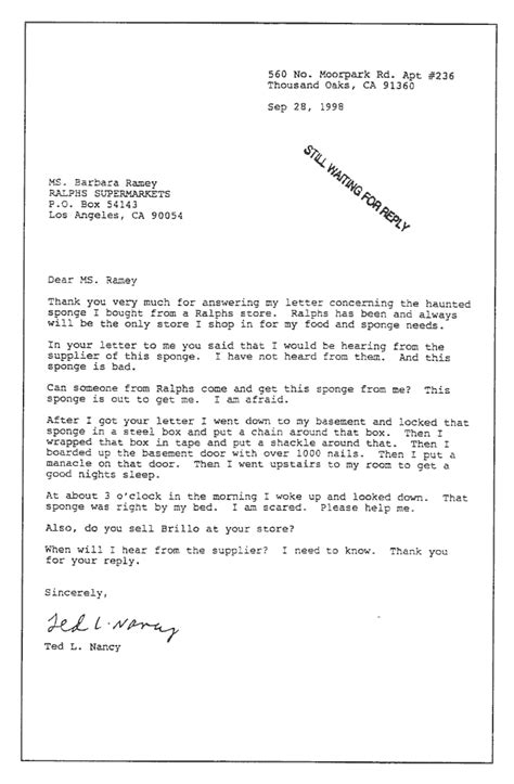 letters from a nut ted l nancy classic letters from a nut sponge 23323