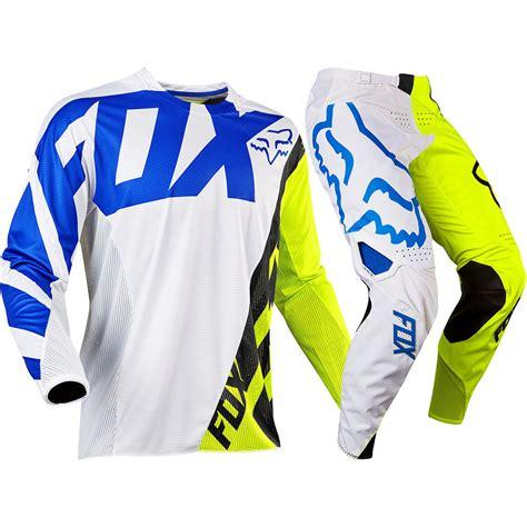 fox youth motocross gear fox racing 2017 kids mx new 360 creo white flo yellow
