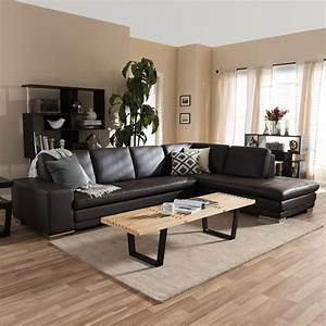 baxton studio callidora 2 piece contemporary brown faux With brown 2 piece sectional sofa