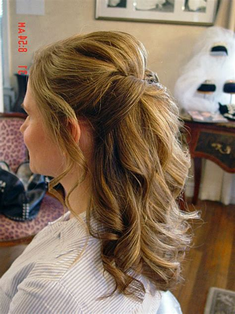 half up half down wedding hair updo hairstyle in 2019