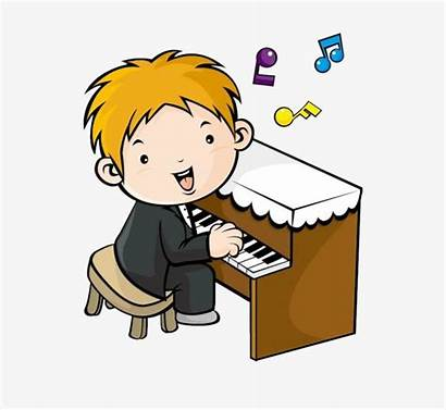 Piano Clipart Playing Clip Boy Lesson Kid