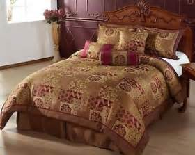 hindu queen size bed in a bag 7pc comforter set brown