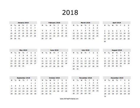 2018 calendar template calendarlabs blank calendar 2018 monthly printable calendar