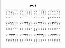 Blank 2018 Calendar calendar template excel