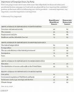 Democrats, Republicans Agree on Four Top Issues for Campaign