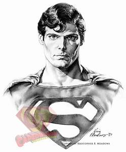 Drawn superman christopher reeve superman - Pencil and in ...