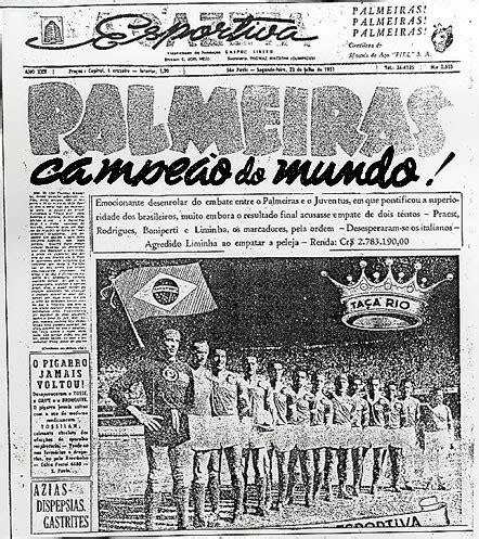 Afinal de contas, o Palmeiras é ou não é campeão mundial ...