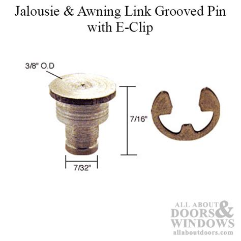 jalousie  awning window link groove pin  clip pack  aluminum steel