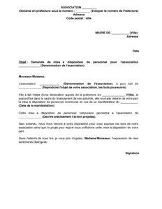 modele lettre de motivation employé communal lettre de demande de mise 224 disposition de personnel
