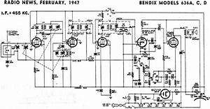 Bendix Models 636a  C  D Schematic  U0026 Parts List  February