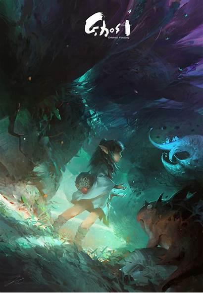 Ghost Lin Wenjun Fantasy Artstation Artwork Concept