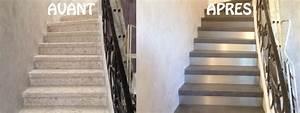 Renover Un Escalier En Bois : escalier granito r novation d 39 escalier r nover vos ~ Premium-room.com Idées de Décoration
