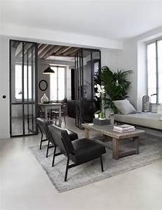 Sejour Style Industriel : cuisine avec verri re pour cloisonner l espace avec style sans le fermer ~ Teatrodelosmanantiales.com Idées de Décoration