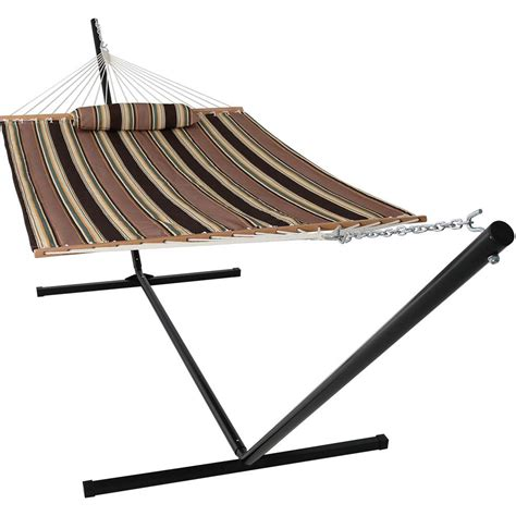 10 Foot Hammock by Sunnydaze Decor 10 1 2 Ft Quilted Fabric Hammock With 15