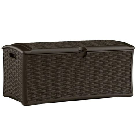 Suncast Wicker Deck Box by Excellent And Suncast Resin Wicker Deck Box With Seat