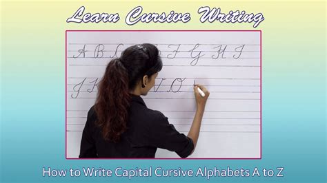 Cursive Writing For Beginners  Writing Cursive Alphabets  Capital  Cursive Handwriting