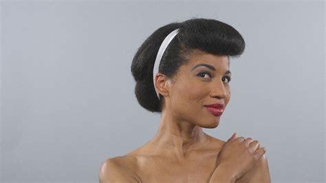 1950s hair makeup blackwomen style fashion hairstyle