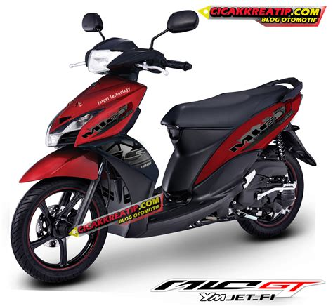 Modif Jupiter Mx Merah Hitam by Modif Striping Dan Warna Mio Gt Versi New Striping 2014