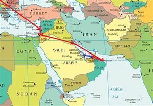 World Map Dubai Qatar