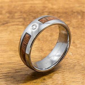 wedding ring tungsten ring with hawaiian koa wood 6mm With hawaiian style wedding rings