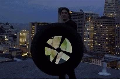Spinning Umbrella Led