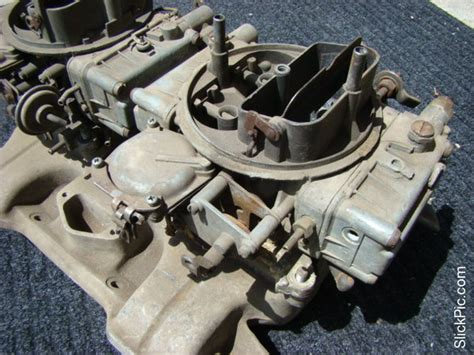 vtg dodge mopar 440 dual holley carburetors offenhauser 360 intake manifold ebay