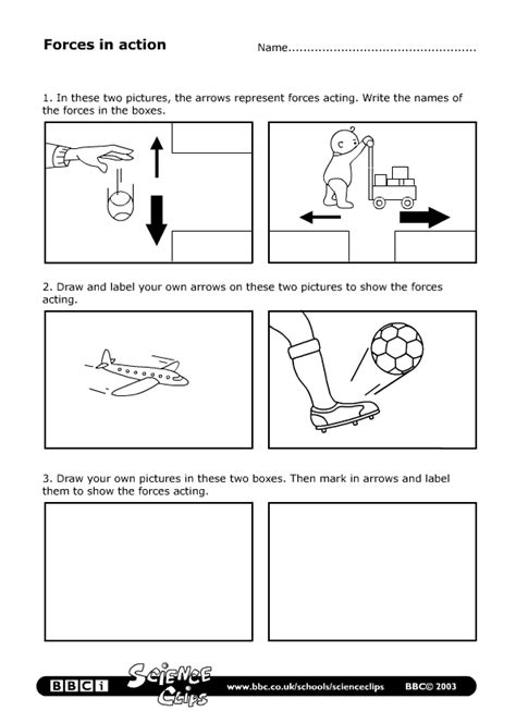 motion  force worksheets yahoo search results