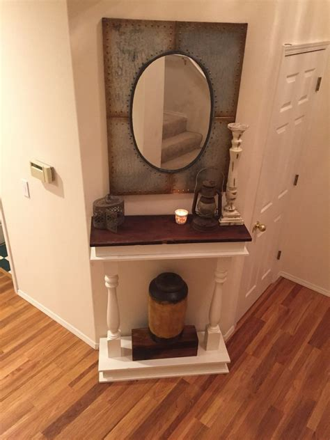 diy console table shanty  chic