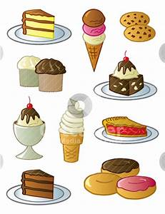 Cartoon Sweets Clipart (20+)
