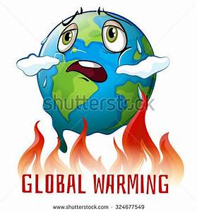 Global Warming Poster Earth On Fire Stock Vector 324677549 ...