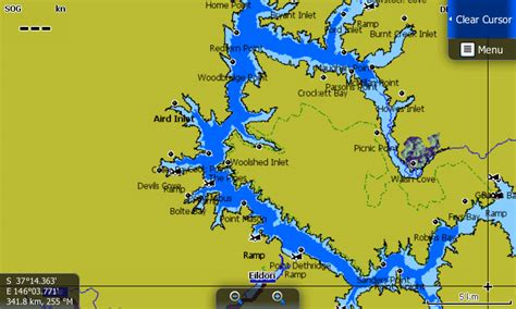 Lake Eildon Map Card - Charted Waters