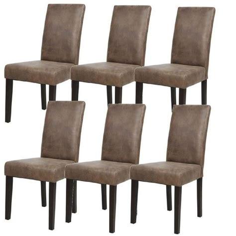 solde cuisine conforama albus lot de 6 chaises de salle à manger vintage marron