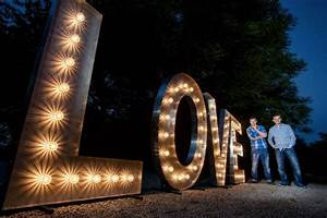 Illuminated light up giant 5ft letters wedding shoot leeds for Giant letters for wedding
