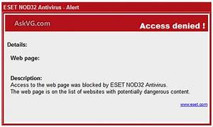 [FIX] Access Denied! Website Blocked by ESET NOD32 ...