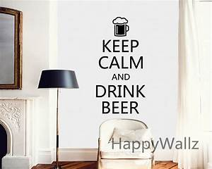 motivational keep calm drink beer quote wall sticker diy With how to make vinyl letters at home