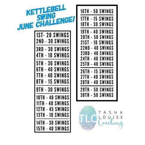 kettlebell challenge june fitness swing workout swings benefits