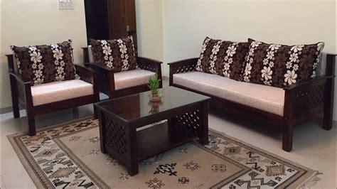 lotus wooden sofa set  design  rightwood youtube